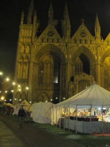 Peterborough Historic Christmas Fayre by night